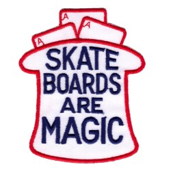 Нашивка Skateboards Are Magic белая (201843)